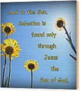 Salvation In The Son Wood Print