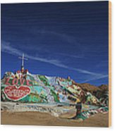 Salvation Mountain Wood Print by Laurie Search