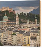 Salzburg After The Storm Wood Print