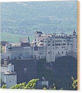 Salzburg Fortress Panorama Wood Print