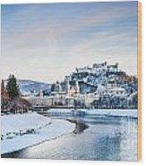 Salzburg Winter Fairy Tale Wood Print
