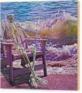 A-loon On The Beach  Wood Print