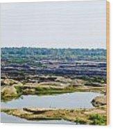 Sam Phan Bhok Grand Canyon In Mekong River In Ubon Ratchathanee Wood Print