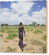 Samburu Chief Wood Print
