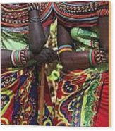 Samburu Women Dancing Kenya Wood Print