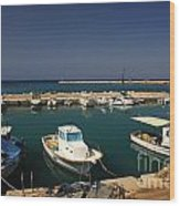 Sami Harbour Kefalonia Wood Print