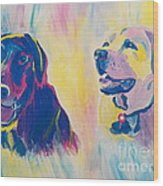 Sammy And Toby Wood Print