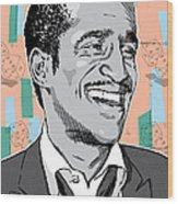 Sammy Davis Jr Pop Art Wood Print