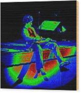 S H In Technicolor 1977 Wood Print
