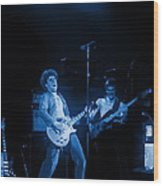 Sammy Plays The Blues In Spokane In 1977 Wood Print