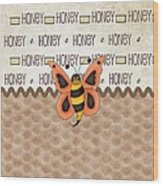 Sammy The Honey Bee Wood Print