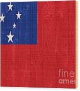 Samoa Flag Wood Print