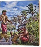 Samoan Torch Bearer Wood Print