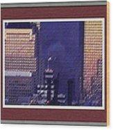 Sample Example Sunset On Ground Zero Wood Print