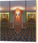 Sample Paneled Hallway Mirrored Image Wood Print