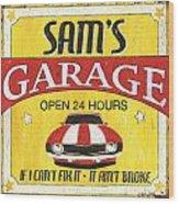 Sam's Garage Wood Print