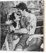 Samson And Delilah, From Left, Hedy Wood Print