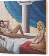 Samson And Delilah Wood Print