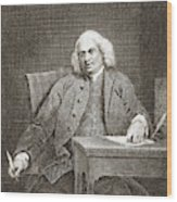 Samuel Johnson, English Author Wood Print