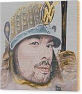 Samurai Ichiro Wood Print by Bas Van Sloten