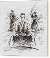 Samurai Meditation. Wood Print