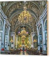 San Agustin Church  Wood Print