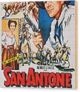 San Antone, Us Poster Art, From Left Wood Print