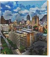 San Antonio Wood Print by Cary Shapiro