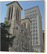 San Antonio Church 04 Wood Print