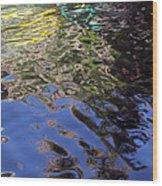 San Antonio River Reflection Wood Print