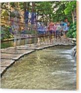 San Antonio Riverwalk Slomo Wood Print