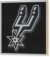 San Antonio Spurs Wood Print by Tony Rubino