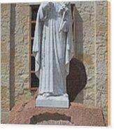 San Antonio Statue Wood Print