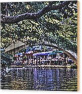 San Antonio Stroll Wood Print