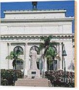 San Buenaventura City Hall Building California Wood Print