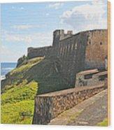 San Christobal Castle Old San Juan Wood Print