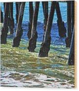 San Clemente Pier Wood Print by Mariola Bitner