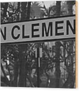 San Clemente Station Sign Wood Print