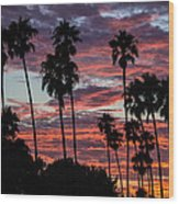 San Clemente Sunset Wood Print