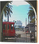San Diego Transportation Wood Print