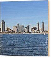 San Diego Ca Harbor Skyline Wood Print