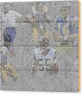 San Diego Chargers Legends Wood Print