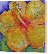 San Diego Hibiscus Study IIi Upward Facing  Wood Print