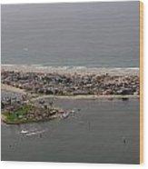 San Diego Mission Bay 3 Aerial Wood Print