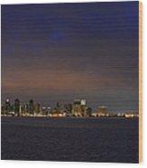 San Diego Night Sky Wood Print