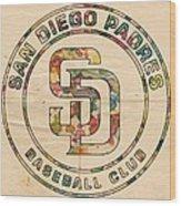 San Diego Padres Logo Art Wood Print