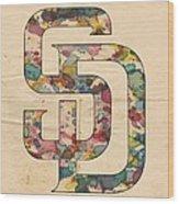 San Diego Padres Logo Vintage Wood Print