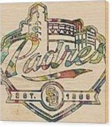 San Diego Padres Memorabilia Wood Print