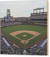 San Diego Padres V Colorado Rockies Wood Print