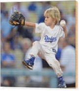 San Diego Padres V Los Angeles Dodgers Wood Print